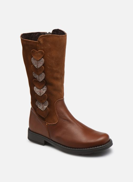 Bottes Rose et Martin BETTY LEATHER Marron vue détail/paire