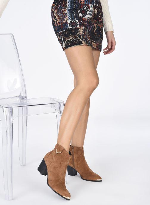 Stiefeletten & Boots I Love Shoes DIANA braun ansicht von unten / tasche getragen