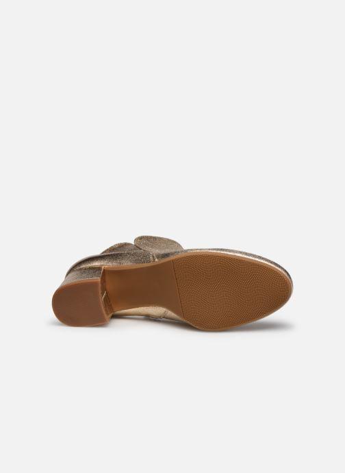 Bottines et boots I Love Shoes DELPHINE Or et bronze vue haut