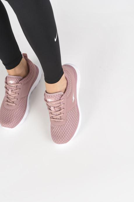 Sneaker Kangaroos KN-Bumpy rosa ansicht von unten / tasche getragen