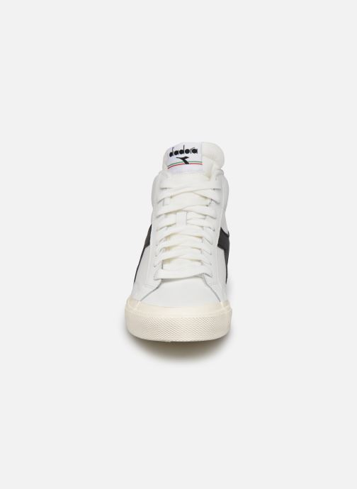 Baskets Diadora Melody Mid Leather Dirty Blanc vue portées chaussures