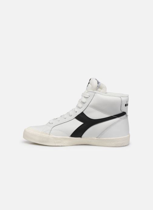 Baskets Diadora Melody Mid Leather Dirty Blanc vue face