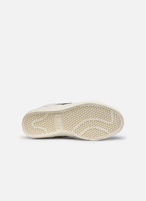 Baskets Diadora Melody Mid Leather Dirty Blanc vue haut