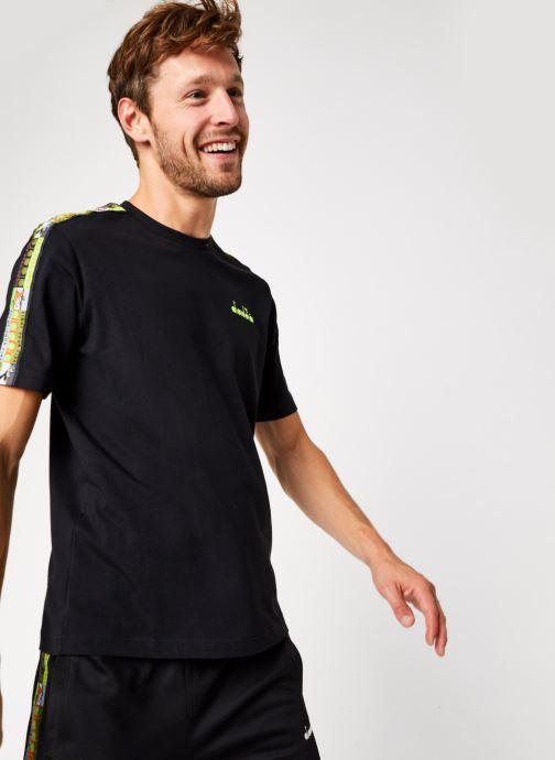 Kleding Diadora T Shirt offside 95 Zwart detail
