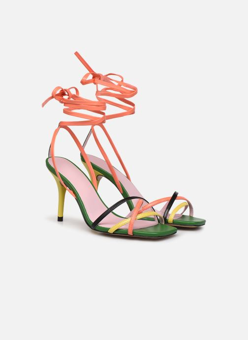 Sandales et nu-pieds Essentiel Antwerp Wavering Strappy Sandals Multicolore vue 3/4