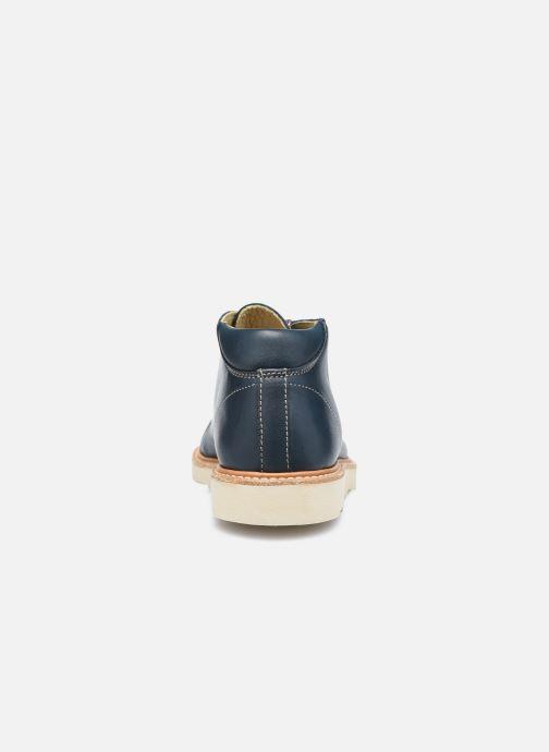Zapatos con cordones Young Soles Hattie Azul vista lateral derecha