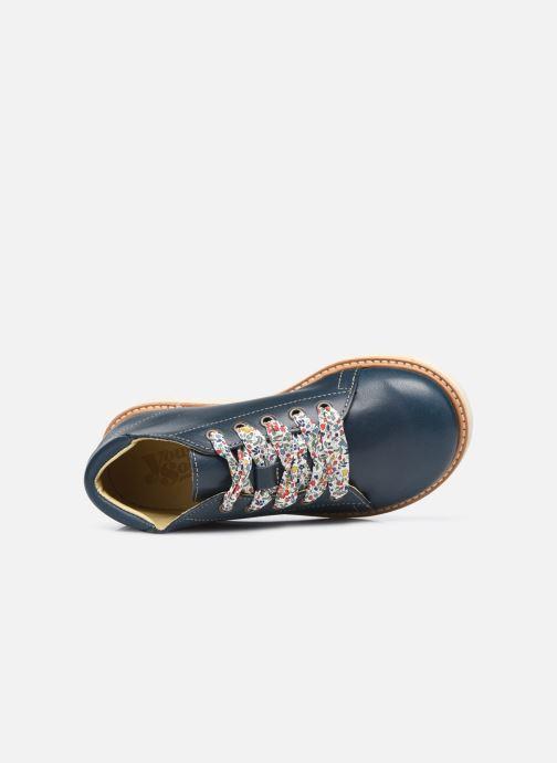 Zapatos con cordones Young Soles Hattie Azul vista lateral izquierda