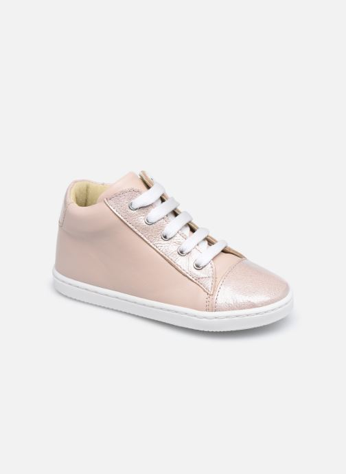 Baskets Rose et Martin JADE LEATHER Beige vue détail/paire