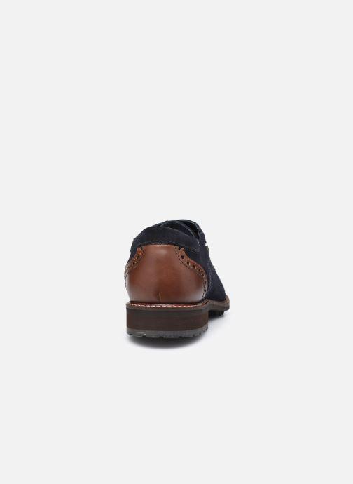 Zapatos con cordones Josef Seibel Jasper 52 Azul vista lateral derecha