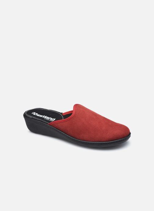 Pantuflas Westland Avignon 315 Rojo vista de detalle / par