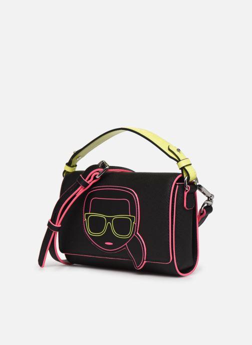 Sacs à main Karl Lagerfeld K/Ikonik Neon Crossbody Noir vue portées chaussures