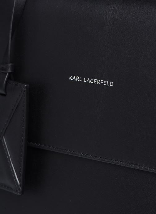 Handtaschen KARL LAGERFELD K/Ikon Medium Top Handle schwarz ansicht von links