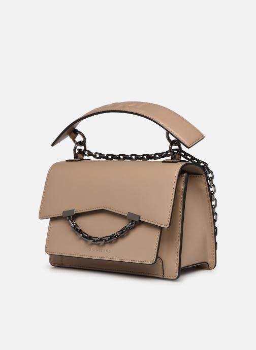 Sacs à main Karl Lagerfeld K/Karl Seven Shoulderbag Beige vue portées chaussures