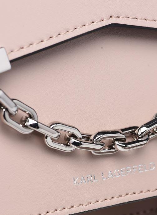 Bolsos de mano Karl Lagerfeld K/Karl Seven Shoulderbag Rosa vista lateral izquierda