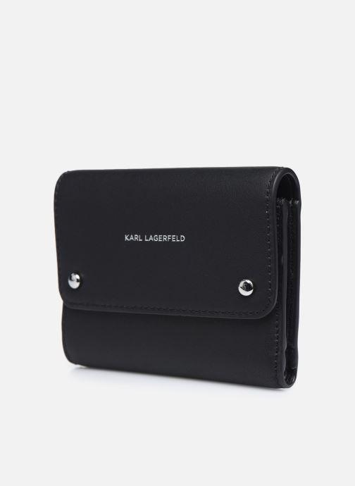 Marroquinería pequeña Karl Lagerfeld K/Ikonik Md Flap Wallet Negro vista del modelo