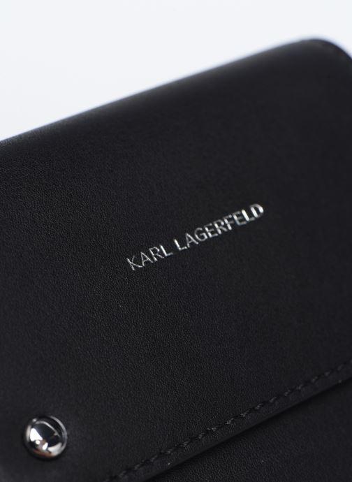 Marroquinería pequeña Karl Lagerfeld K/Ikonik Md Flap Wallet Negro vista lateral izquierda