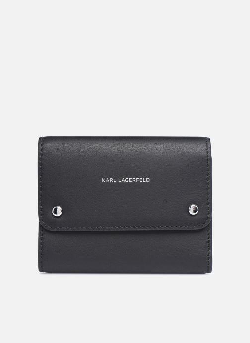 Marroquinería pequeña Karl Lagerfeld K/Ikonik Md Flap Wallet Negro vista de detalle / par