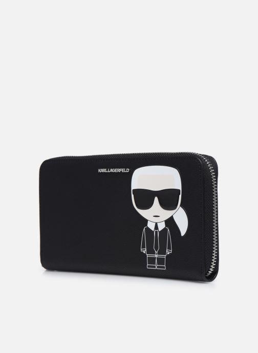 Petite Maroquinerie Karl Lagerfeld K/Ikonik Cont Zip Wallet Noir vue portées chaussures