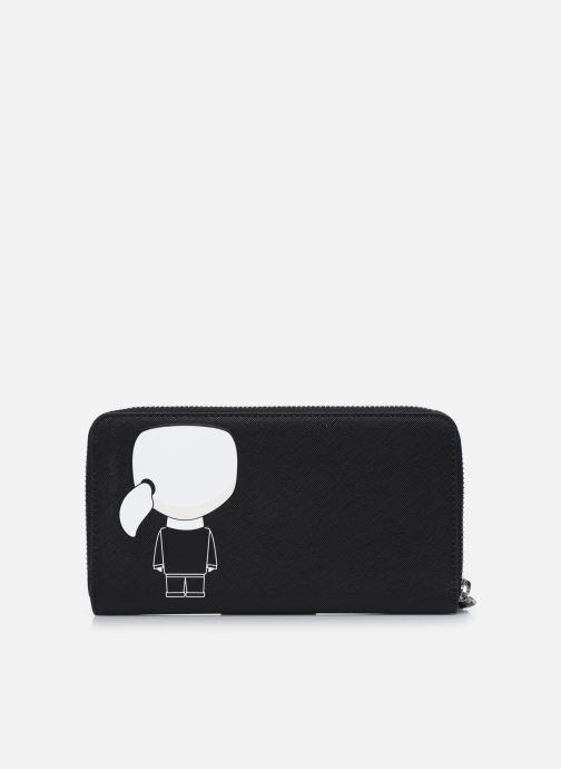 Marroquinería pequeña Karl Lagerfeld K/Ikonik Cont Zip Wallet Negro vista de frente
