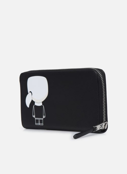 Marroquinería pequeña Karl Lagerfeld K/Ikonik Cont Zip Wallet Negro vista lateral derecha