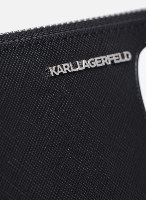 Petite Maroquinerie Karl Lagerfeld K/Ikonik Cont Zip Wallet Noir vue gauche