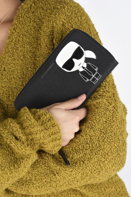 Petite Maroquinerie Karl Lagerfeld K/Ikonik Cont Zip Wallet Noir vue bas / vue portée sac