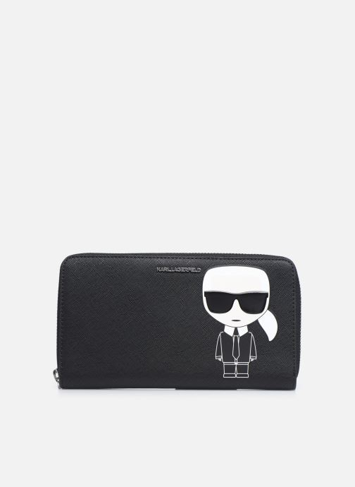 Marroquinería pequeña Karl Lagerfeld K/Ikonik Cont Zip Wallet Negro vista de detalle / par