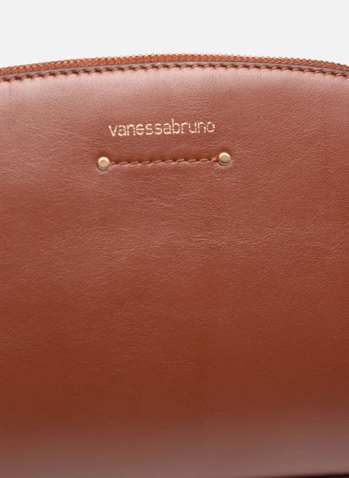 Bolsos de mano Vanessa Bruno Trousse L Bdl Marrón vista lateral izquierda