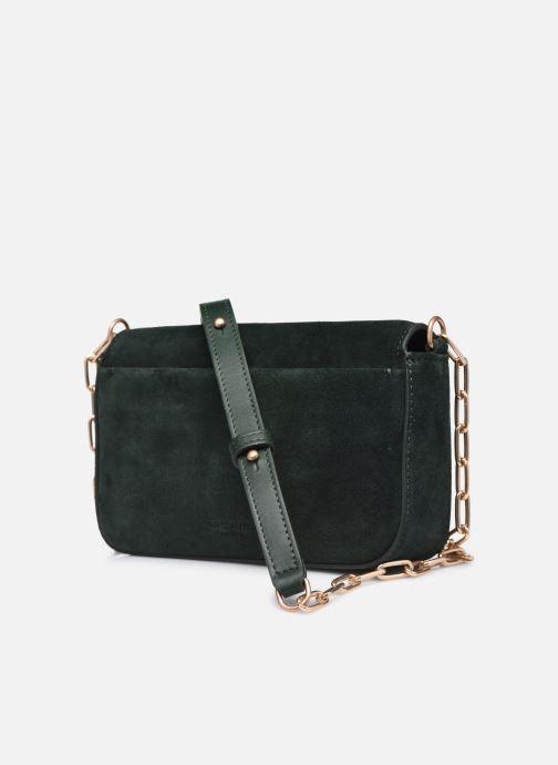 Handtaschen Vanessa Bruno Moon Rigide grün ansicht von rechts