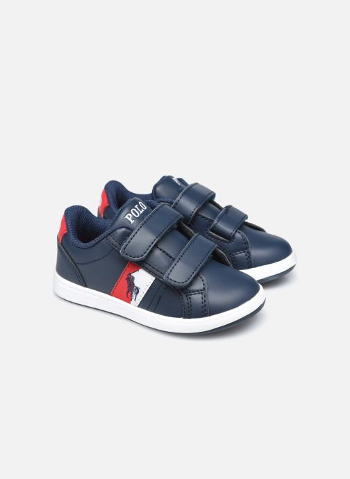 Baskets Polo Ralph Lauren Ormond EZ Bleu vue 3/4