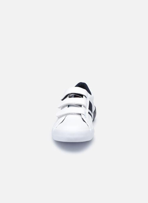 Baskets Polo Ralph Lauren Gregot EZ Blanc vue portées chaussures