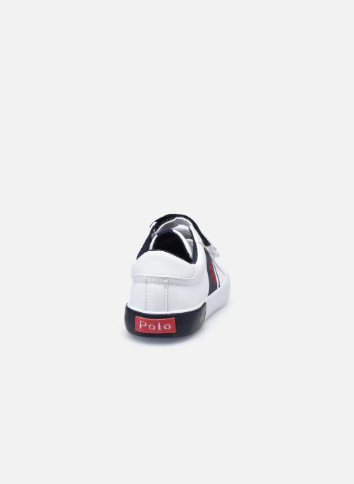 Baskets Polo Ralph Lauren Gregot EZ Blanc vue droite
