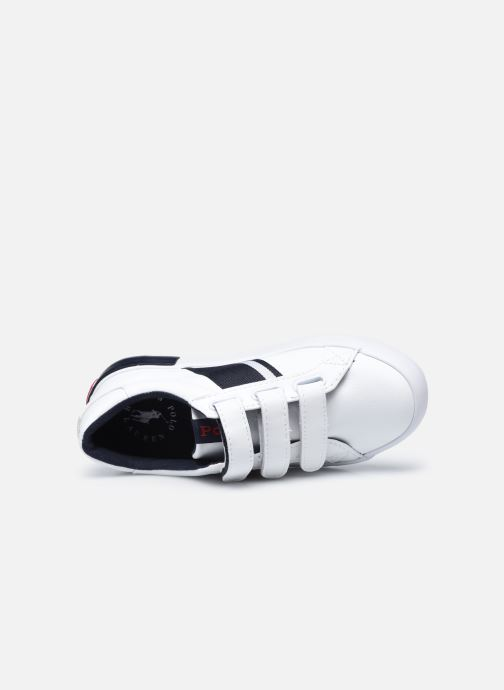 Sneaker Polo Ralph Lauren Gregot EZ weiß ansicht von links