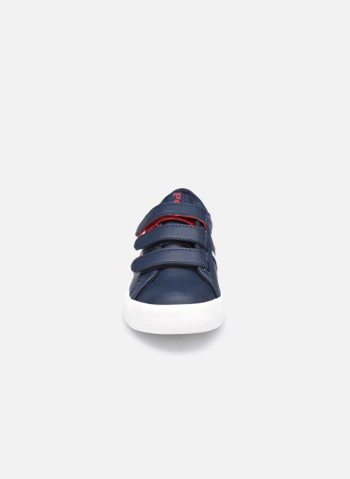Baskets Polo Ralph Lauren Gregot EZ Bleu vue portées chaussures
