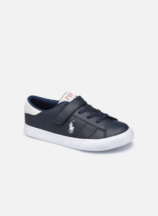 Baskets Polo Ralph Lauren Theron III PS Bleu vue détail/paire