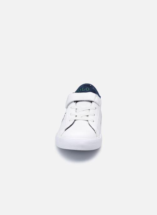 Baskets Polo Ralph Lauren Theron III PS Blanc vue portées chaussures