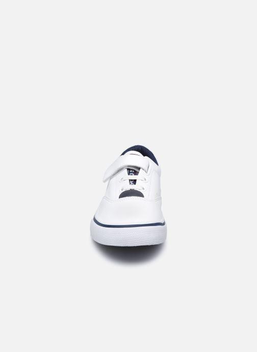 Baskets Polo Ralph Lauren Thornton PS Blanc vue portées chaussures