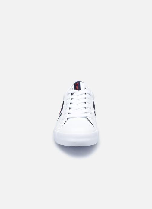 Baskets Polo Ralph Lauren Gregot Blanc vue portées chaussures