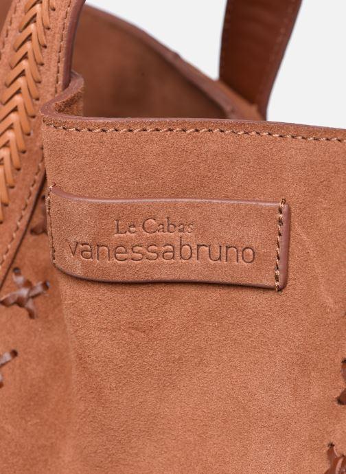 Bolsos de mano Vanessa Bruno Cabas M+ Tressé Marrón vista lateral izquierda