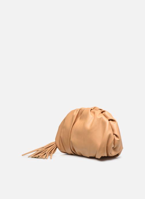 Pochette Rebecca Minkoff Ruched Clutch Marrone modello indossato