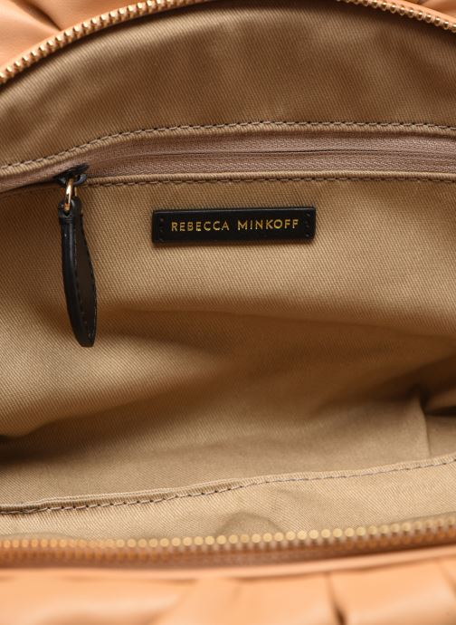 Bolsos Clutch Rebecca Minkoff Ruched Clutch Marrón vistra trasera