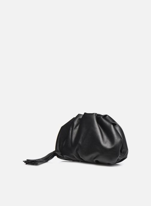 Sacs pochettes Rebecca Minkoff Ruched Clutch Noir vue portées chaussures