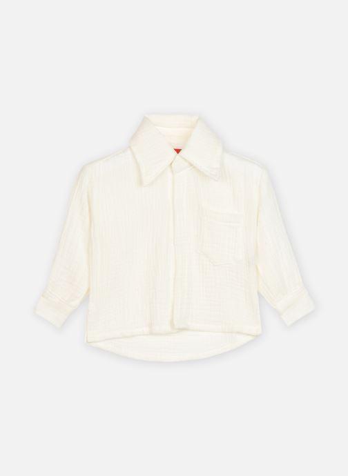 Vêtements Bakker Made With Love Shirt Alberto double gauze Garcon Blanc vue détail/paire