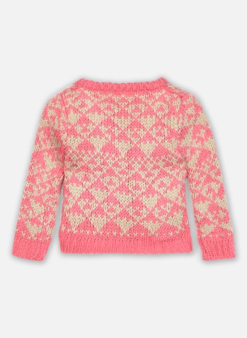 Vêtements Bakker Made With Love Knitting Cardigan Jacquart Rose vue portées chaussures