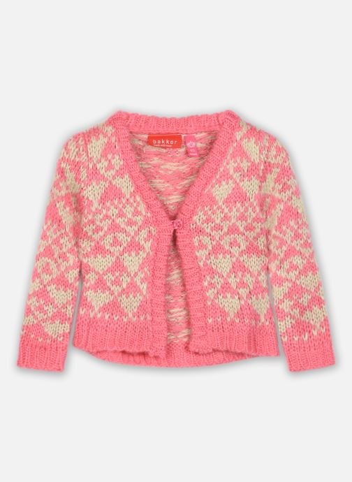 Vêtements Bakker Made With Love Knitting Cardigan Jacquart Rose vue détail/paire