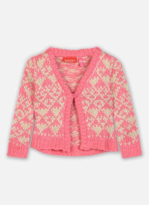 Vêtements Bakker Made With Love Knitting Cardigan Jacquart Rose vue détail/paire