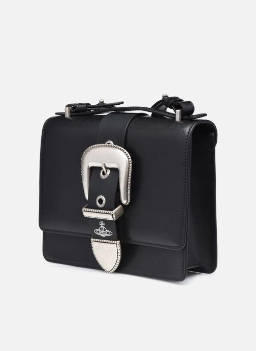 Sacs à main Vivienne Westwood Rodeo Small Shoulder Bag Noir vue portées chaussures