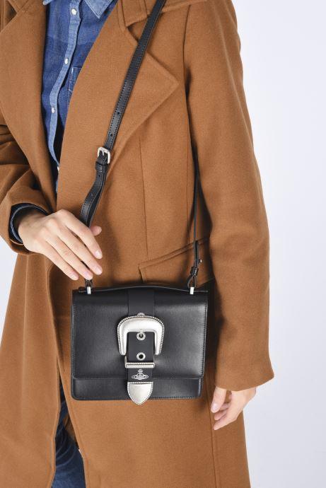 Sacs à main Vivienne Westwood Rodeo Small Shoulder Bag Noir vue bas / vue portée sac