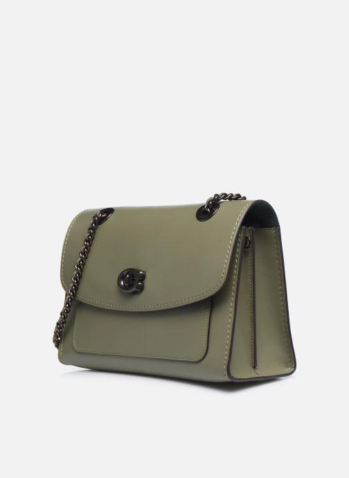 Bolsos de mano Coach Parker Shoulder Bag Verde vista del modelo