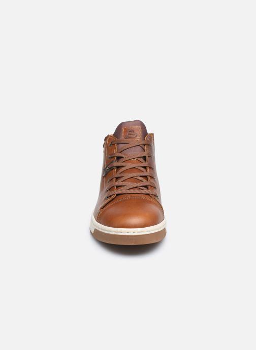 Sneaker Bullboxer Q00004341-70 braun schuhe getragen